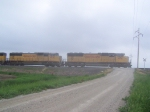 A Pair of SD70M's Head a Southbound Grain Train