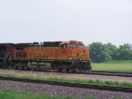 BNSF 4952 Sits While Traffic Clears Ahead