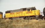 "UP 2295 with ""Little Rock lettering"""