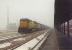 UP 9143 from out of the fog