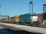 EMDX 767 passing Joliet Union Station