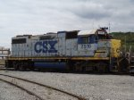 CSX 2516 in for paint