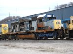 CSX 8417, retired and scrapped on site