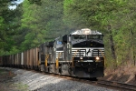 NS 7570 pulling coal train NS Q-24