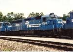 SD45-2 6660 sits between runs at the engine servicing facility