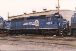 Now assigned to Oak Island yard for hump service, 6664 sits at the enginehouse