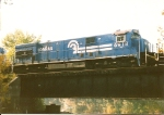 U23C 6918, with its seasonal bay window still attached,  trails on train CGAL