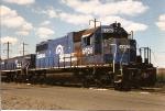 SD38 6925 and MT-6 slug 1125 await servicng at the Oak Island engine house