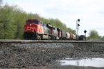 CN 2276 passes another westbound making a setout