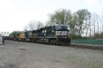 NS 7580 pulls out of Controlled siding and onto track 2