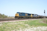 CSX 5385 with empty sulpher headed for Rockdale, IL