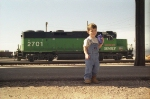 BNSF 2701 and young railfan