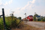 INRD train Z490 passes semaphore signals