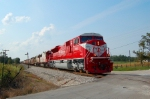 INRD train Z490 w/ 60 car train including large block of potash loads