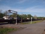 rock train supplying a slide repair