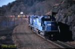 Conrail OIBU heads west at Tuxedo, NY