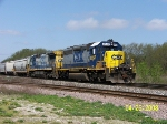 CSX 8357 leads eastbound