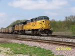 UP 8198 leads powder river coal train
