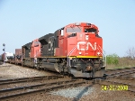 CN 8817 leads eastbound