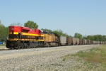 Northbound KCS Empty Coal Train DPU's