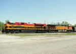 Southbound KCS Loaded Coal Train DPU's