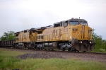 UP 9553 with fresh trucks & UP 9344