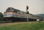 Amtrak test train for the Superliners turned on the St. Albans wye