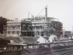 1928 Construction view of station