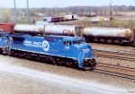 CR 6119 leads a freight