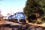 CR 6136 leads an intermodal train