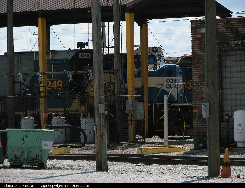 CSX 4601 sits in the shop