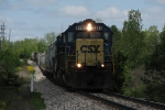 CSX 8462 leading Q326 down through the sag