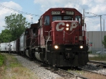 CP 5902 leads X740-23 east across Grandville Ave