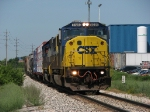 An ex Conrail SD60I leads the first Q326 of July east