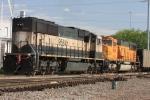 DPU's BNSF 9584 and 9939 on the rear of a SB TXUX coal train