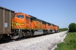 S/B BNSF Coal Train DPUs