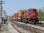 CP 9671 rolls into the yard with X500-05
