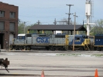 CSX 2631 & 5875 sit outside of the shop