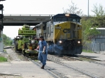 With track equipment on Track 1, Q335's conductor protects the first of 3 crossings