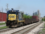 CSX 5875 pulling eastward with D006-16