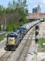 Q326 rolls out of the Sunnyside plant and past the Pleasant St signals