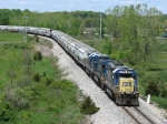 Q326-18 heads east with a decent size train