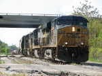 Led by CSX's first ES44DC, Q335-19 rolls west behind four units of four different models