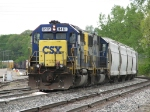 CSX 8461 & 8505 slowly roll into the yard with Q335-22