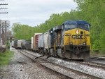 CSX 698 leads Q326-22 onto 2 Track