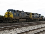 CSX 9006 & 7638 sitting at the west end