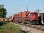 CP 8736 rolls towards the yard with X500-23
