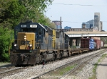 CSX 8141 leads Q326-25 out of the Sunnyside interlocking