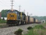 CSX 4574 & 8046 leading K999-29 eastward