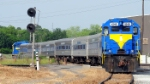 HOG power crosses CSX & NS interlockings